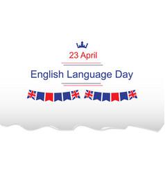 english language day vector image vector image