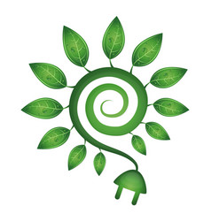 green energy symbol vector image