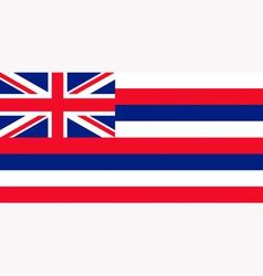 Hawaiian state flag vector image vector image