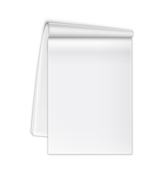 Isolated Open Notebook On White vector image
