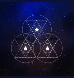 sacral geometry elements vector image
