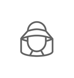 simple beekeeper line icon symbol and sign vector image vector image