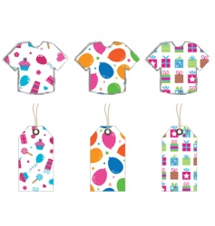 T- shirts and tags vector image