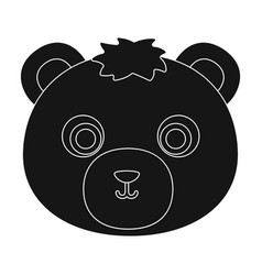 bear muzzle icon in black style isolated on white vector image