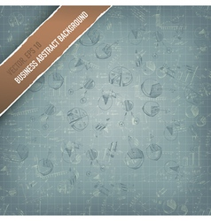 business graphs background vector image vector image