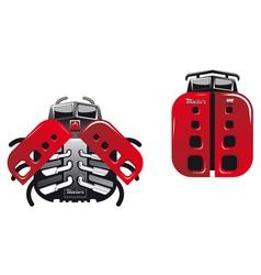 Cartoon racing ladybugs and beetles vector image vector image