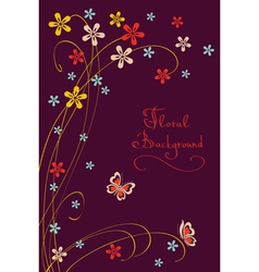 Cute Floral Background Modern Card vector image