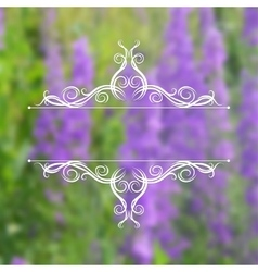 Filigree ornaments on blurred background vector image