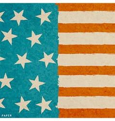 grunge paper texture american flag vector image vector image