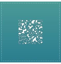 Labyrinth puzzle rebus icon vector