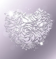 rose papercut vector image