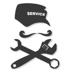 Service and repair of vector image vector image
