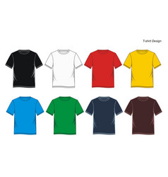 t shirt colorful vector image