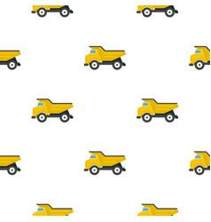 yellow dump truck pattern flat vector image vector image