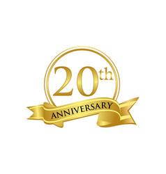 20th anniversary celebration logo vector image