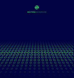 abstract technology halftone green border circles vector image