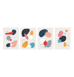 Abstract watercolor posters modern paint art vector