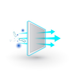 Air purifier filter icon solid particle vector