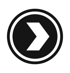 Arrow to right in circle icon simple style vector image