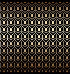 Art deco pattern seamless golden background vector