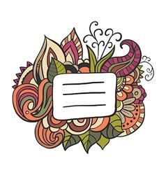 Badge banner doodle frame vector image