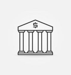 Bank linear icon vector