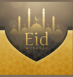 beautiful eid festival greeting card design with vector image