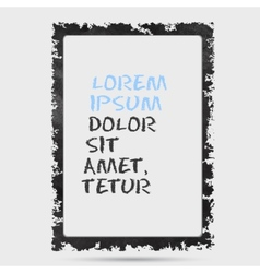 Black grunge frame on a wall background design vector image vector image