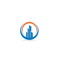 building business company logo vector image