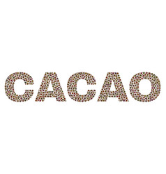 Cacao text in dot style vector