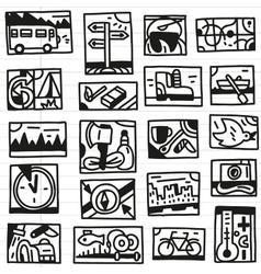 Camping doodles vector