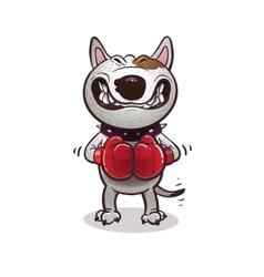 Cartoon angry BullTerrier vector image