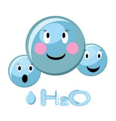 cartoon of water molecule and water vector image