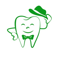 Cartoon tooth logo vector
