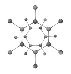 chemistry science icon monochrome vector image vector image