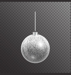 Christmas ball with sparkles vector