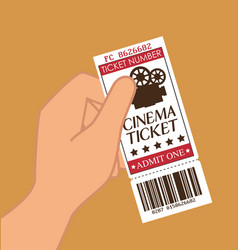 cinema ticket entrance icon vector image