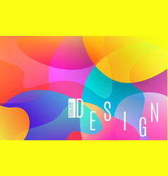 colorful shapes bright abstract background vector image