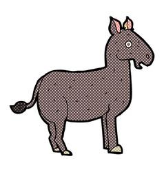 comic cartoon mule vector image