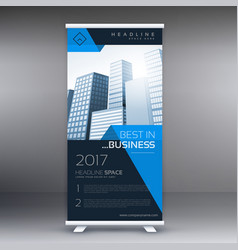 Company roll up banner display vector