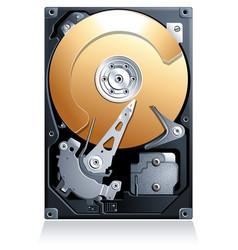 Computer Hard disk drive HDD vector