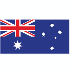 Correct and accurate flag of australia vector