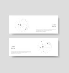 cover design banner with connected line and dots vector image