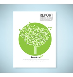 Cover report stylized tree and icon vector