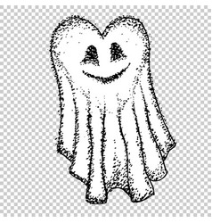 Cute card ghosts in love halloween ghost vector