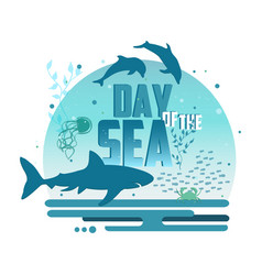 day of the sea poster vector image