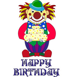 Designer s decisions for a birthday party clown vector
