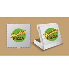 Digital silver recycle paper pizza delivery vector
