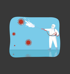 disinfection coronavirus cleanup protection vector image