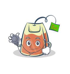Doctor tea bag character cartoon vector